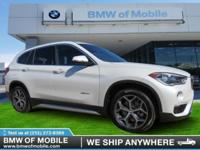 We are excited to offer this 2017 BMW X1. This SUV is a