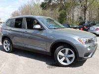 2017 BMW X3 sDrive28i 28/21 Highway/City MPG  Options: