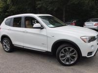 This 2017 BMW X3 sDrive28i in Alpine White features: