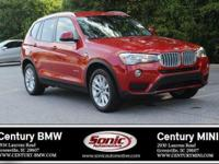 BMW Certified Pre-Owned! This 2017 BMW X3 sDrive28i is