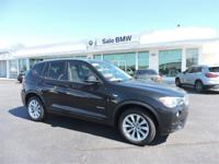 Delivers 28 Highway MPG and 21 City MPG! This BMW X3