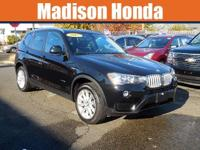 2017 BMW X3 XDRIVE One-Owner. Clean CARFAX. Black 2017
