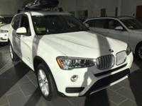 2017 BMW X3 xDrive28i  in Alpine White. 8-Speed