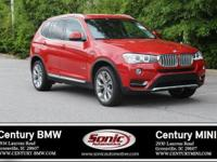 BMW Certified Pre-Owned! This 2017 BMW X3 xDrive28i is