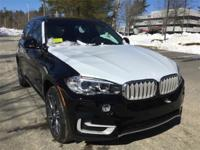 2017 BMW X5 xDrive35i  in Jet Black and Rear view