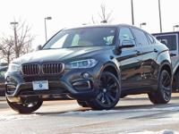 This 2017 BMW X6 comes with AWD, black Leather, 4-Zone