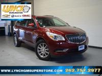 2017 Crimson Red Buick Enclave Leather Group 6-Speed