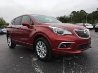 Certified. Red 2017 Buick Envision Essence FWD 6-Speed