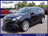 Options:  2017 Buick Envision Essence|Black|Certified.