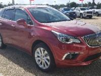 Certified. Chili Red Metallic 2017 Buick Envision
