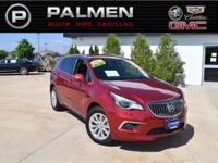 Chili Red 2017 Buick Envision Essence FWD 6-Speed