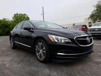 Certified. Black 2017 Buick LaCrosse Essence FWD