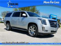 2017 Cadillac Escalade ESV Luxury, ONE OWNER, CLEAN