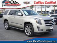 Cadillac Certified, CARFAX 1-Owner. Luxury trim.