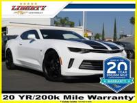 Summit White 2017 Chevrolet Camaro 2LT 2LT RWD 3.6L V6