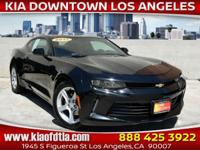 Clean CARFAX. Black 2017 Chevrolet Camaro 1LT 2D Coupe