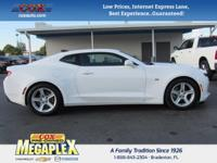 This 2017 Chevrolet Camaro in White is well equipped