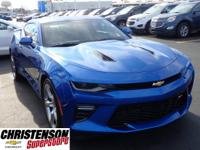 2017+Chevrolet+Camaro+SS+In+Blue.+ABS+brakes+Alloy+whee