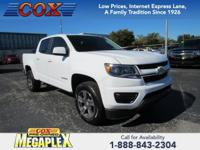This 2017 Chevrolet Colorado Work Truck in Summit White