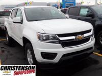 2017+Chevrolet+Colorado+Work+Truck+In+Summit+White.+Gas