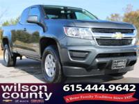 2017 Chevrolet Colorado Work Truck 2.5L I4 DI DOHC VVT