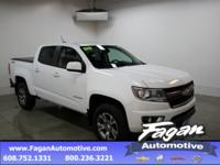 New Price! Summit White 2017 Chevrolet Colorado Z71 4WD
