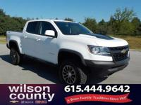 2017 Chevrolet Colorado ZR2 V6 Summit White CARFAX