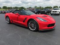 Clean CARFAX. Torch Red 2017 Chevrolet Corvette Grand