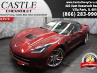 This Chevrolet Corvette has a powerful Gas V8 6.2L/376
