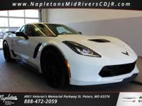 This 2017 Chevrolet Corvette in Arctic White includes,