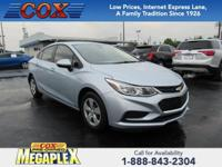 This 2017 Chevrolet Cruze LS in is well equipped with: