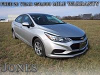 2017 Chevrolet Cruze LS 40/30 Highway/City MPG