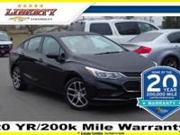 Black Metallic 2017 Chevrolet Cruze LS FWD 6-Speed