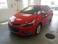 Recent Arrival! This 2017 Chevrolet Cruze LT in Red