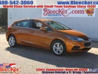 Boasts 38 Highway MPG and 29 City MPG! This Chevrolet