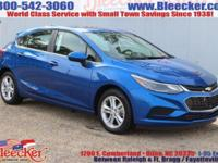Delivers 38 Highway MPG and 29 City MPG! This Chevrolet