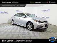 New Price! Silver Ice 2017 Chevrolet Cruze LT One Owner