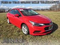 2017 Chevrolet Cruze LT 40/30 Highway/City MPG