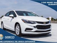 Recent Arrival! 2017 Chevrolet Cruze LT White 40/30