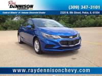 Blue 2017 Chevrolet Cruze LT FWD 6-Speed Automatic 1.4L