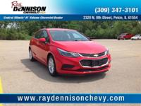 Red 2017 Chevrolet Cruze LT FWD 6-Speed Automatic 1.4L