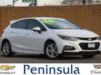 Summit White 2017 Chevrolet Cruze LT  Cruze LT, 4D