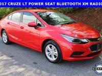 ***2017 Cruze LT, POWER DRIVER SEAT, BLUETOOTH