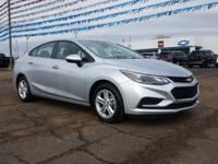 Clean CARFAX. Silver 2017 Chevrolet Cruze LT FWD