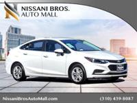 New Price! Summit White 2017 Chevrolet Cruze LT FWD