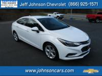 2017 Chevrolet Cruze, Clean Carfax 1 Owner, Certified
