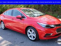20,378 MILES****2017 Cruze Premier, LEATHER HEATED