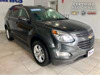 2017 Chevrolet Equinox Nightfall Gray Metallic. CARFAX
