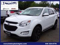 Options:  2017 Chevrolet Equinox Lt|White|Certified.