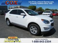 This 2017 Chevrolet Equinox LT in Summit White is well